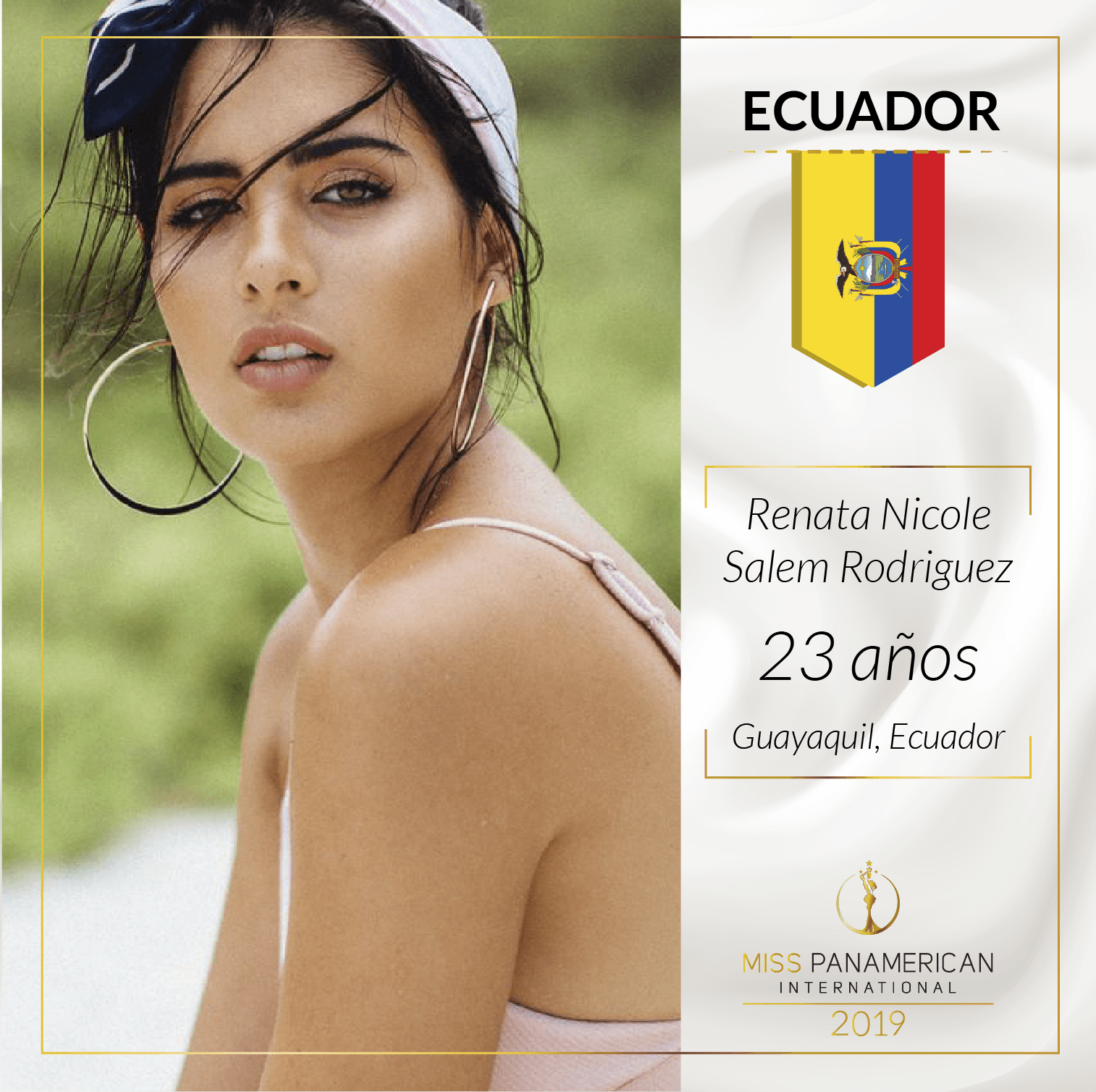 candidatas a miss panamerican international 2019. final: 2 nov. sede: guadalajara. Bspjn3e3