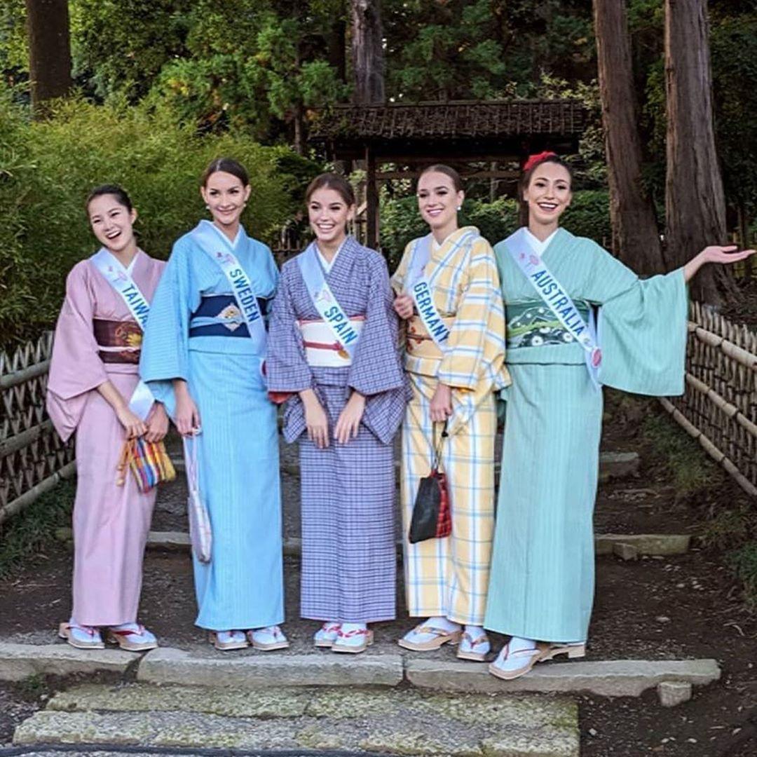 candidatas a miss international 2019 usando tradicional traje tipico japones. Hcust2qb