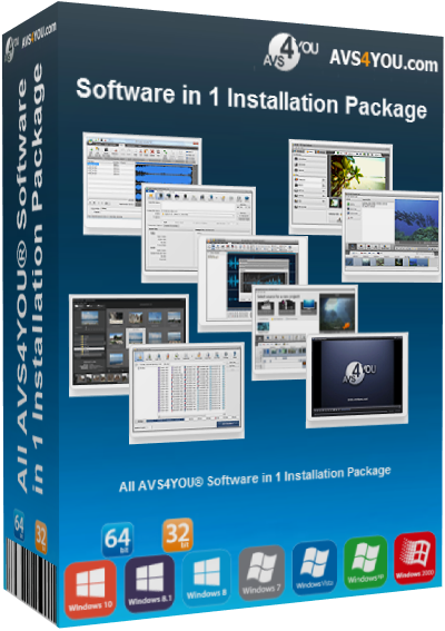 All AVS4YOU Software in 1 Installation Package v4.4.2.158