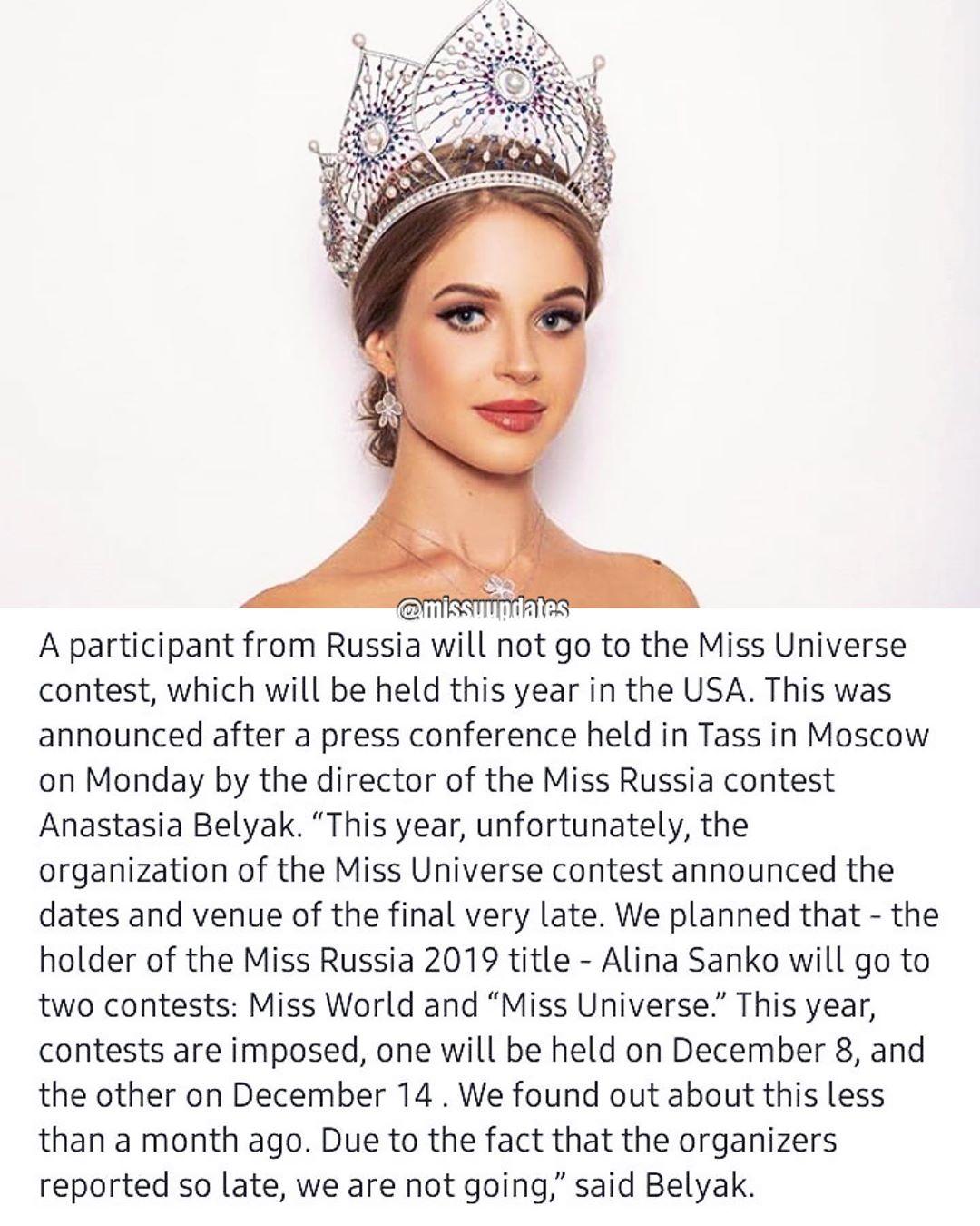 russia no ira para miss universe 2019. Dxlsxk66