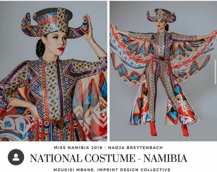 traje tipico de miss universe namibia 2019. Leje85p4