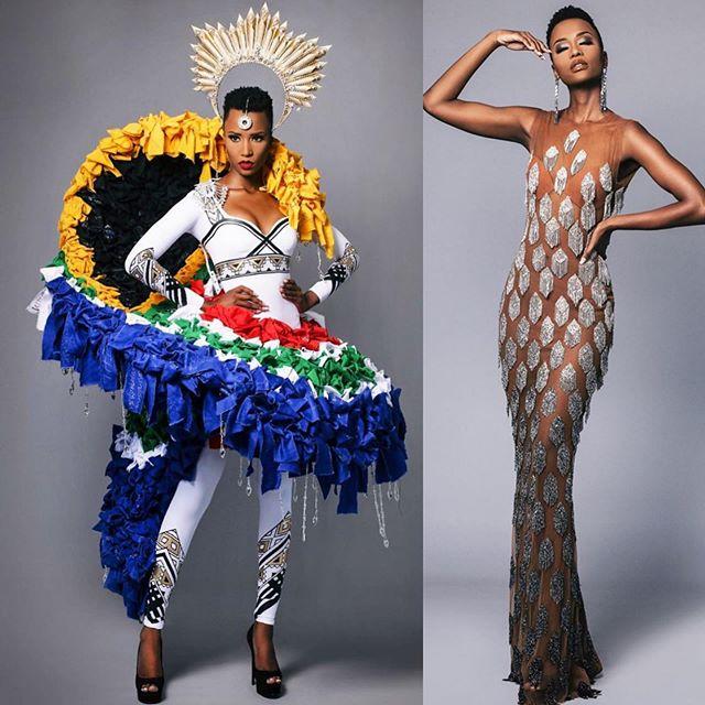 traje tipico de miss universe south africa 2019. 9p8wnozv