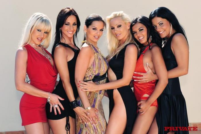 Private: Lesbian party - Sandy, Eve Angel, Natalli DiAngelo, Simone Peach [2019] (HD 720p)
