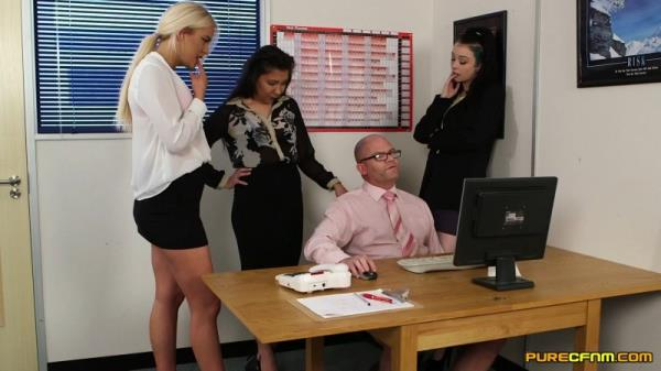 PureCFNM: Alessa Savage, Kirsty Travis, Louisa Moon - Office Voyeurs (FullHD) - 2019
