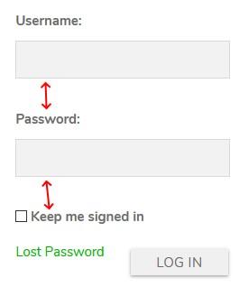 login widget