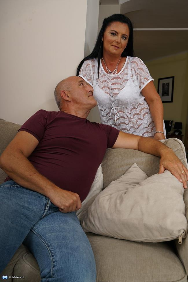 Horny housewife fooling around