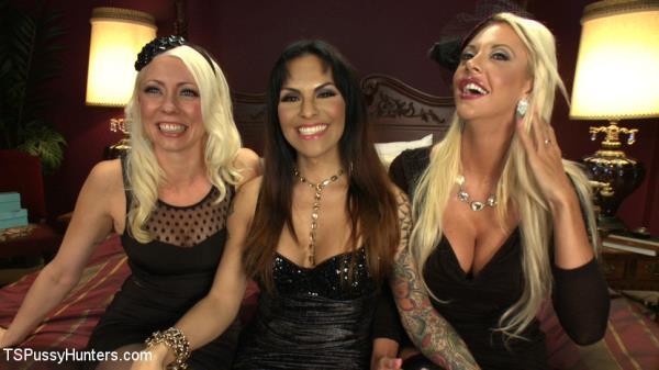 TSPussyHunters: Lorelei Lee, TS Foxxy, Courtney Taylor - HARDCORE (HD) - 2020