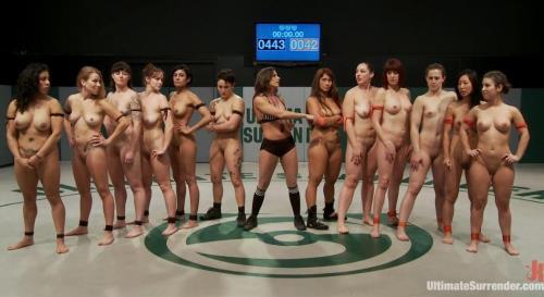 DragonLily , Syd Blakovich , Tia Ling , Bella Rossi , Mistress Kara , Cheyenne Jewel , Izamar Gutierrez , - Super Mega Awesome Battle Dream Supreme 12 girls 6 rounds 1 fuckfest (HD)
