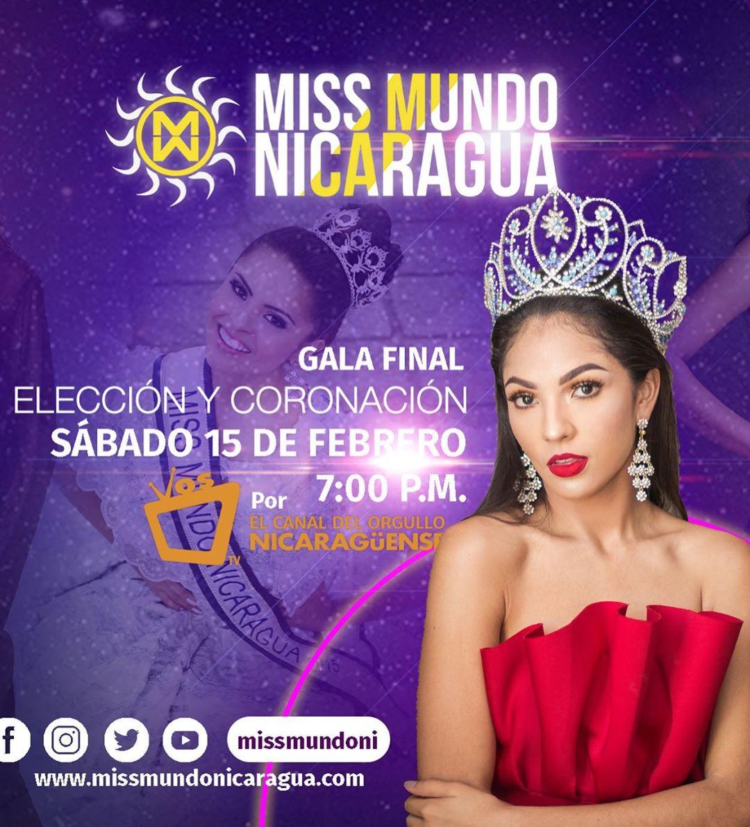 candidatas a miss nicaragua mundo 2020. final: 15 feb. L4f5gipi