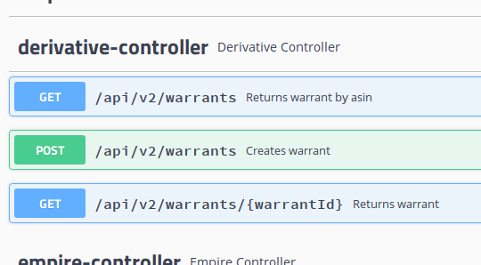 Warrants API