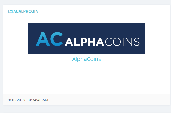 AlphaCoins logo