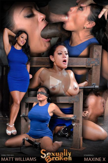 SexuallyBroken: Maxine X - Big breasted MILF Maxine X throat trained on hard cock and vibrated, multiple orgasms! (HD) - 2020