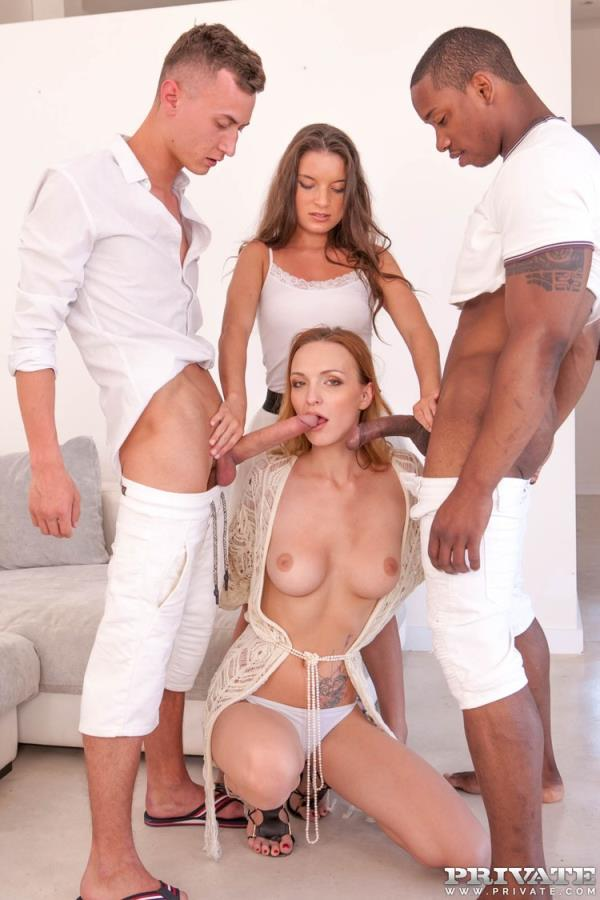 AnalIntroductions/Private: Belle Claire, Anita Bellini - Belle Claire and Anita Bellini, interracial orgy with DP (FullHD) - 2020