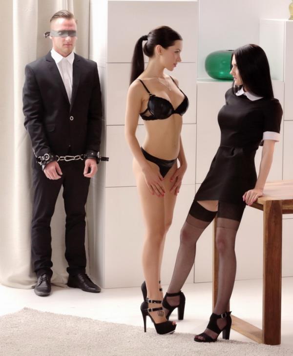 Sensual FFM threesome with brunette seductive Czech and Russian beauties - Crystal Greenvelle, Sasha Rose [TheWhiteBoxxx/PornDoePremium] (HD 720p)