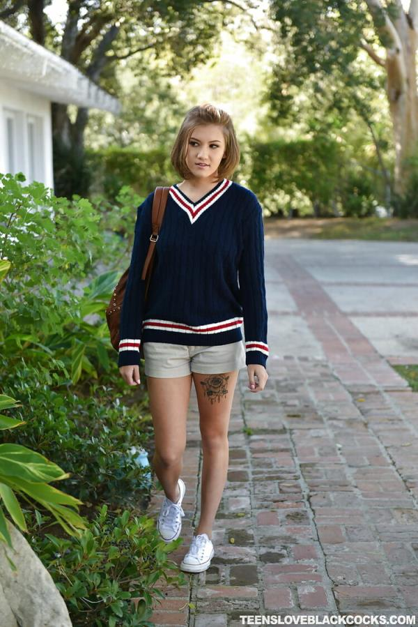 TeensLoveBlackCocks: Riley Mae - Boarding School Drop Out (HD) - 2020