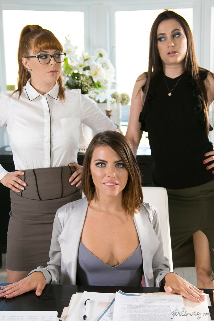 Adriana Chechik, Penny Pax, Georgia Jones: Lady Boss: Orientation (FullHD / 1080p / 2020) [GirlsWay]