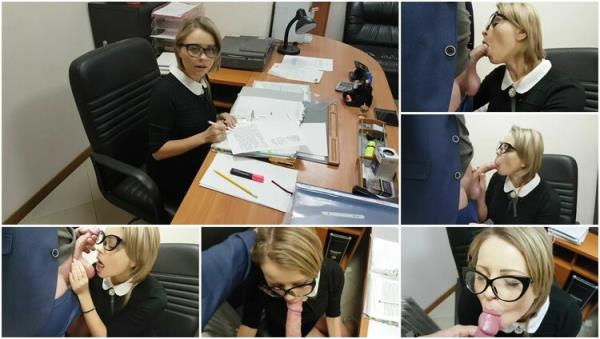Hot Teen Russian Secretary Sucks Big Dick of her Boss in Office and Swallow - yasmibutt [PornHub/PornHubPremium] (FullHD 1080p)